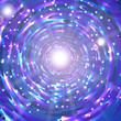 Abstract shimmering background in blue and lilac tones