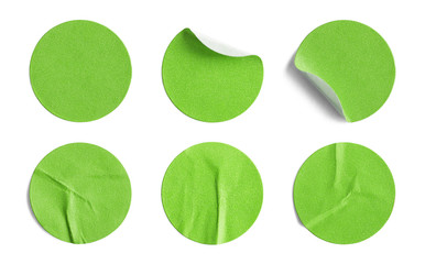 Green Round Stickers