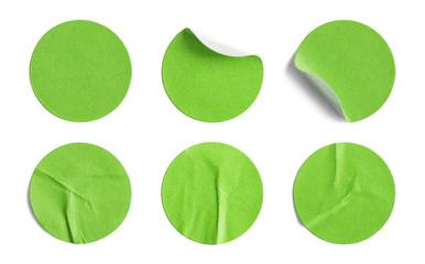 Green Round Stickers