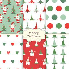 Set of Christmas sealess patterns