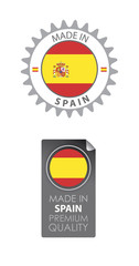 Made in Spain seals, Spanish Flag (vector Art)