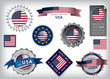 Made in the USA seals, United States Flag, American - 67963820