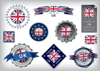 Made in UK Seals, British Flag (VECTOR ART)