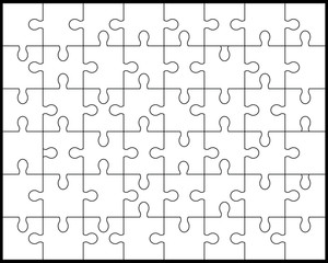 White puzzle 2,vector illustration