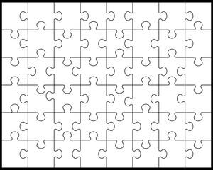 White puzzle,vector illustration