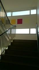 Treppenhaus bunte Wände