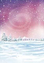 fondo magico nevado
