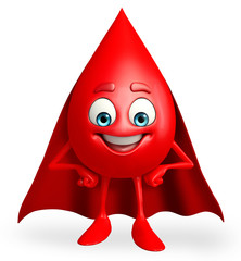 super Blood Drop Character