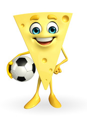 Cheese Character with football