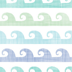 Abstract textile waves stripes seamless pattern background