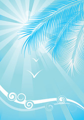 Summer blue background