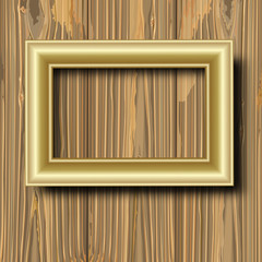 gilted frame on wood
