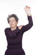elderly woman with injured shoulder