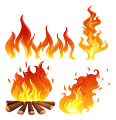 Set of flames