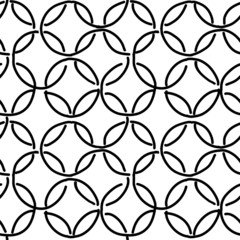 Abstract rings seamless pattern for your design
