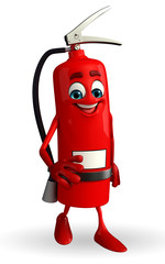 Fire Extinguisher character is walking