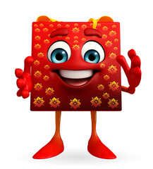 Gift Box Character with clapping