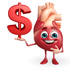 Heart character with dollar sign
