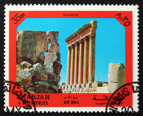Postage stamp Spain 1972 Baalbeck, Ancient City
