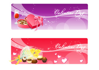 Valentine`s banners