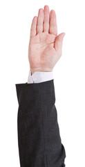 voiting - hand gesture