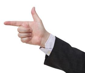 handgun sign - hand gesture