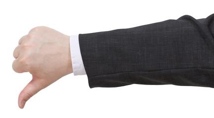 thumbs down - hand gesture