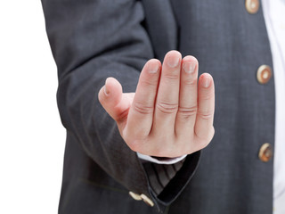 businessman inviting - hand gesture