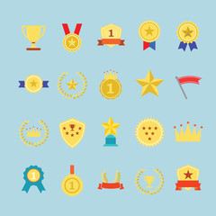 Award icons set. Illustration eps10