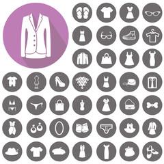 Fashion icons set. Illustration eps10