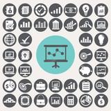 Fototapety Economy icons set. Illustration eps10
