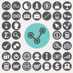 Business Startup icons set. Illustration eps10