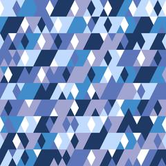 Синий паттерн из геометрических фигур