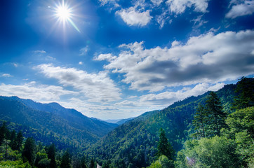 Great Smoky Mountains National Park on north carolina tennessee