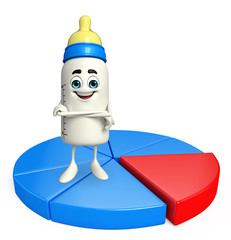 Baby Bottle character with Business graph