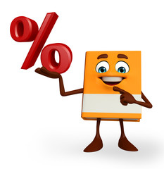 Book Character with percent sign