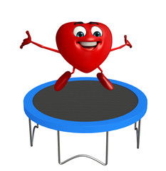 Heart Shape character with jumpbed