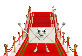 Mail Character with red carpet