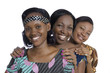 Three african women in traditional clothing