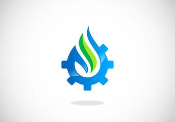water-ecology-gear-vector-logo