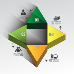 Modern design for business 3D triangle profit