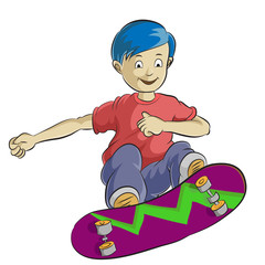 boy playing skateboard
