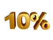 10 percent sign