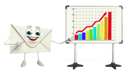 Mail Character with business graph
