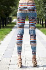 Body part of stylish leggings