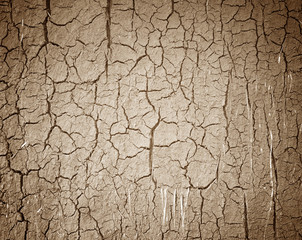 Drought the ground cracks.