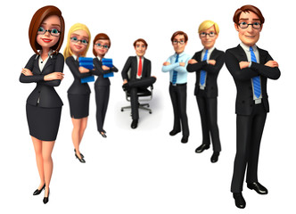 Group business people in office