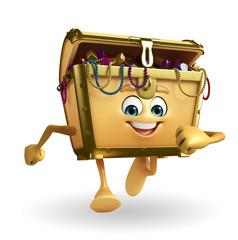 Treasure box character is running