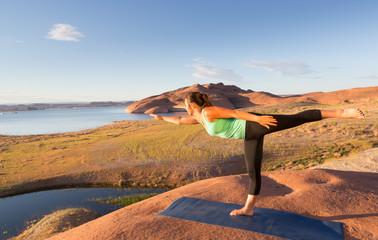 Stretching in the Desert Sun