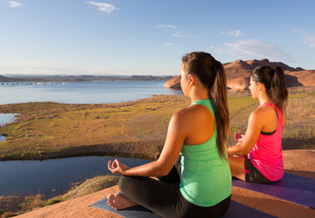 Girls Finding Peace at Lake Powell